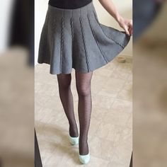 """Thick winter gray mini skirt New, worn only to model. Perfect for cold weather thick grey mini skirt. Approx. 14"""" waist laying flat, 16"""" long. Thank you for visiting my closet, please feel free to ask questions, I offer great discounts on bundles! ☺️ Cotton On Skirts Mini"""