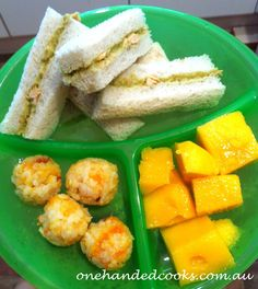 one handed cooks: baby & toddler food: lunch tasting plate