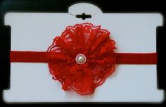 Red Valentines Day Headband by ManaiaBabyDesigns on Etsy, $6.50
