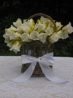 Rustic Wicker Wedding Centerpiece Basket