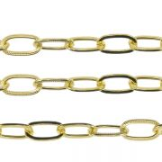 Large Textured Trace Chain - Gold Plated