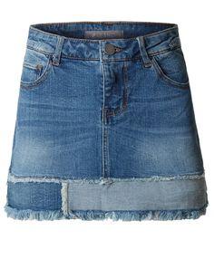 Womens Casual Vintage Frayed A-Line Mini Denim Skirt Short Jean Skirt, Short Jeans, Refaçonner Jean, A Line Denim Skirt, Denim Skirts, Skater Girl Outfits, Denim Ideas, Jeans Denim, How To Make Shorts