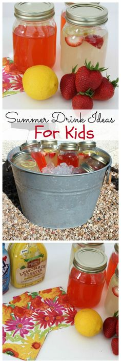 An Easyand fun summer drink idea for kids. During the summer, my son and his friends play outside non-stop. Which means they get thirsty! Here's an easy drink idea and drink station to keep them hydrated. #ad