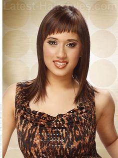 brunette-short-bangs-shoulder-length