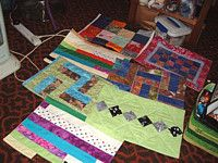 Lillian made small Kennel Quilts for animal shelters.