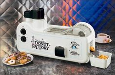 HA! A mini donut maker: thirty donuts to a batch, and it supposedly only takes 90 seconds! #kitchen #gadget #dessert