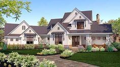 Plan W16853WG: Corner Lot, Country, Traditional, Farmhouse House Plans & Home Designs