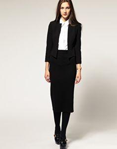 ASOS Pencil Skirt In Longer Length
