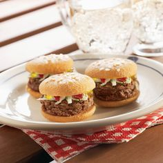 Mini Brownie Burger Sliders  (Easy; Yields: 2 dozen mini burgers)   #birthday #party #fun #dessert #chocolate #tollhouse