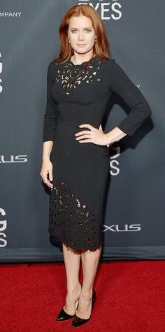 Look of the Day - December 10, 2014 - Amy Adams in Dolce & Gabbana from #InStyle