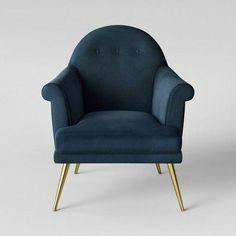 b8900bec2e387 Myna Tufted Velvet Arm Chair with Brass Legs - Opalhouse™ : Target  #targethomedecor Orange