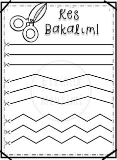 Classroom Wall Decor, Classroom Walls, Motor Skills Activities, Fine Motor Skills, Free Preschool, Preschool Worksheets, Scissor Skills, Coloring Pages, Crafts For Kids