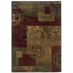 Green Geometric Rug (8'2 x 10') - Overstock™ Shopping - Great Deals on Style Haven 7x9 - 10x14 Rugs
