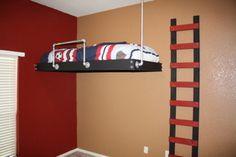 Suspended Twin Bed Loft Plans Zero Floor Space | eBay