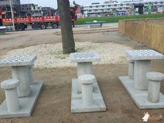 Betonnen Schaaktafel gepolijst bij Bries in Groningen