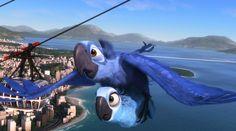 Blu rescuing Jewel in the first film. Film Rio, Rio Movie, Disney Films, Disney Art, Disney Pixar, Rio Party, Blue Sky Studios, Dreamworks Animation, Disney And More