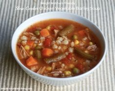 WW Freestyle Recipes: Crock Pot Turkey Vegetable Soup with Barley is an easy, healthy & satisfying Simply Filling soup with - 162 calories, 4 WW SmartPoints Vegetable Soup Healthy, Vegetable Soup With Chicken, Chicken And Vegetables, Cooked Chicken, Veg Soup, Healthy Soup, Healthy Smoothies, Veggies