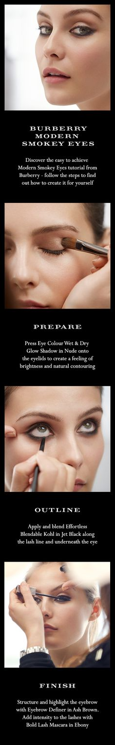 Discover the easy to achieve Modern Smokey Eyes make-up tutorial from Burberry - follow the steps to find out how to create it for yourself