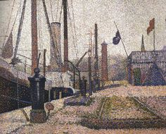 Georges Seurat (French, 1859-1891), The Maria at Honfleur, 1886. Oil on canvas,