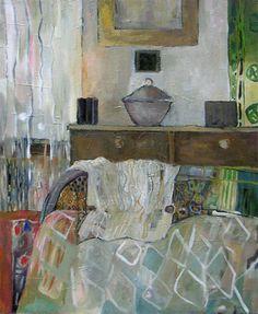 BENEDICTE GARNIER FIHEY  Peinture à l'huile. La chambre