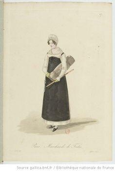 Marchande de Toiles from Georges-Jacques Gatine, Costumes d'ouvrières parisiennes, 1824, BNF Paris