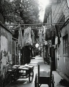 Laundry gets an airing in a French Concession alley near Xinle Road.