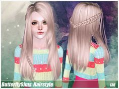 Emma's Simposium: Request 000042 - ButterflySims Hair 136 - Donated/...