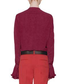 Silk Button-Down Shirt