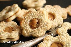 Smakołyki Asi: Ciasteczka sezamkowo-kajmakowe