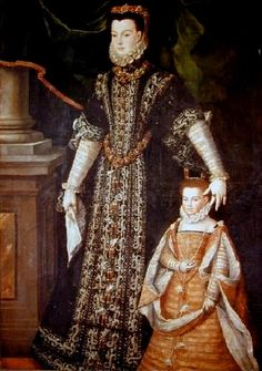 Portrait of Diane d'Andouins, Countess of Guiche. Mistress of French King Henry IV from 1583 to about 1590, with her ​​daughter Catherine ca.1580