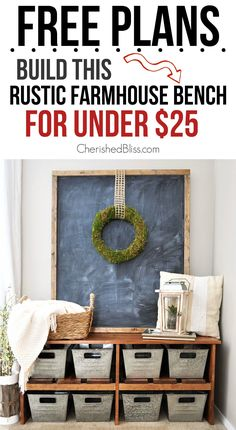 With this easy to follow tutorial you can build a DIY Rustic Farmhouse Bench for under $25!