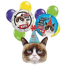 Grumpy Cat 9 pc Birthday Balloon Bouquet Betallic http://www.amazon.com/dp/B01849Y64O/ref=cm_sw_r_pi_dp_jdAMwb0W6KQP3