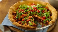 We just love this easy five-ingredient taco casserole recipe. Fill a buttery crescent roll crust with your favorite taco fixings, then prepare to join the clean plate club. Top with shredded lettuce and tomato for an even more authentic taco experience.