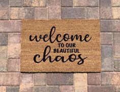 Funny Welcome Mat, Welcome Door Mats, Outdoor Paint, Outdoor Doors, Cottage Door Mats, Fall Doormat, Front Door Mats, Custom Mats, Funny Doormats