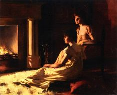 By the Fireside Francis Coates Jones, American painter