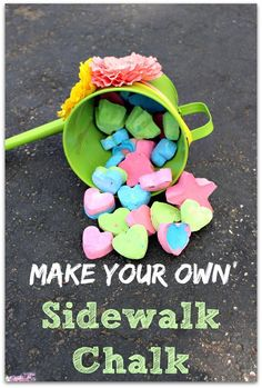 Make your own sidewalk chalk - Only 3 ingredients (and one is water!!) SO fun and SO easy!!! princesspinkygirl.com