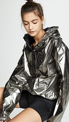 Find and compare RBK x VB Foil Jacket across the world's largest fashion stores! S Models, Female Models, Windbreaker Jacket, Hooded Jacket, Nylons, Metallic Jacket, Fall Outfits, Fashion Outfits, Packable Jacket