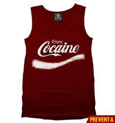 """Tank Top Enjoy Cocaine"" morra disponible en www.kingmonster.com.mx"