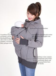 Baby carrying jacket 3 in 1 for mother baby by VivalaMamaBerlin