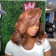 Dyed Natural Hair, Dyed Hair, Baddie Hairstyles, Pretty Hairstyles, Black Girl Hair Colors, Curly Hair Styles, Natural Hair Styles, Honey Brown Hair, Long Hair Wigs