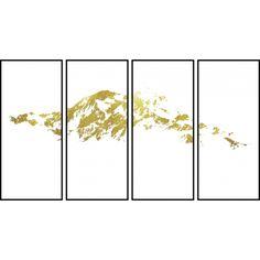 箔金,千山图,中国,古典,东方,水墨,写意,晶瓷,装饰,挂画, Antique,Gold,Mountains,Chinese,Classical,Enjoyable,Orient,Int,Art,Crystal,Porcelain,Decorate,Painting