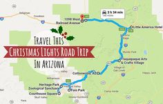 If your idea of getting into the Christmas spirit is seeing beautiful light displays, here's a road trip that will let you see some of the best in Arizona!