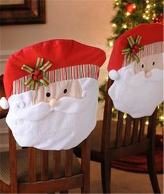 2013 Christmas cotton chair cover set, Christmas Santa cover, Christmas home decor #Christmas #chair #cover #set www.loveitsomuch.com