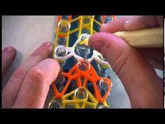 How to make the halloween Rainbow Loom Candy Corn Bracelet NEW DESIGN ( ...