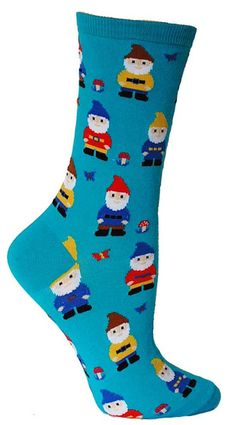 Go where gnome (wo) man has gone before. Better get these unique socks before they are all gone.. gnomesayin?