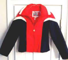 694583414a vintage 70 s jean claude killy-ski jacket-red white blue small from  14.99  Vintage