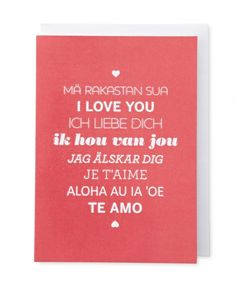 Multilingual Love Card