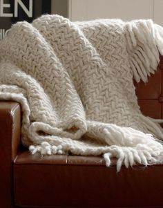 Learn how to knit a cosy woollen blanket in next to no time using Wool and the Gang& Crazy Sexy Wool and knitting needles The post Learn how to knit a cosy woollen blanket in next to no time using Wool and the G& appeared first on Best Knitting Pattern. Knitting Stitches, Knitting Patterns Free, Free Knitting, Baby Knitting, Knitting Needles, Stitch Patterns, Knitted Afghans, Knitted Baby Blankets, Knitted Blankets