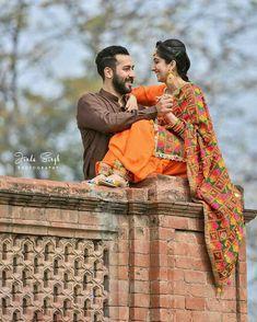 Pin @zaildarni Indian Wedding Couple, Wedding Couple Photos, Desi Wedding, Wedding Couples, Romantic Couple Images, Romantic Couples, Beautiful Couple, Cute Couples, Pre Wedding Poses
