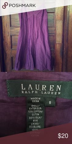 Ralph Lauren dress Purple spaghetti strap dress. Used for Casual or semi formal occasions. Worn once. In Great condition Ralph Lauren Dresses Midi